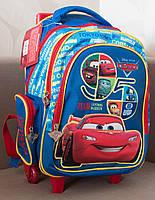 Ранец школьный на колёсах Тачки