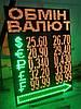 Табло обмен валют (1000х1400 мм, 5 валют)