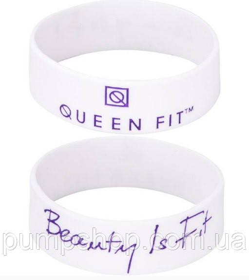 Силиконовый браслет Queen Fit Beauty Is Fit белый