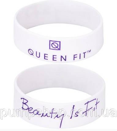 Силиконовый браслет Queen Fit Beauty Is Fit белый, фото 2