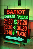 Табло обмен валют (1050х830 мм 3 валюты)