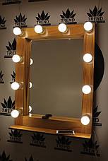 Деревянное макияжное зеркало, фото 2