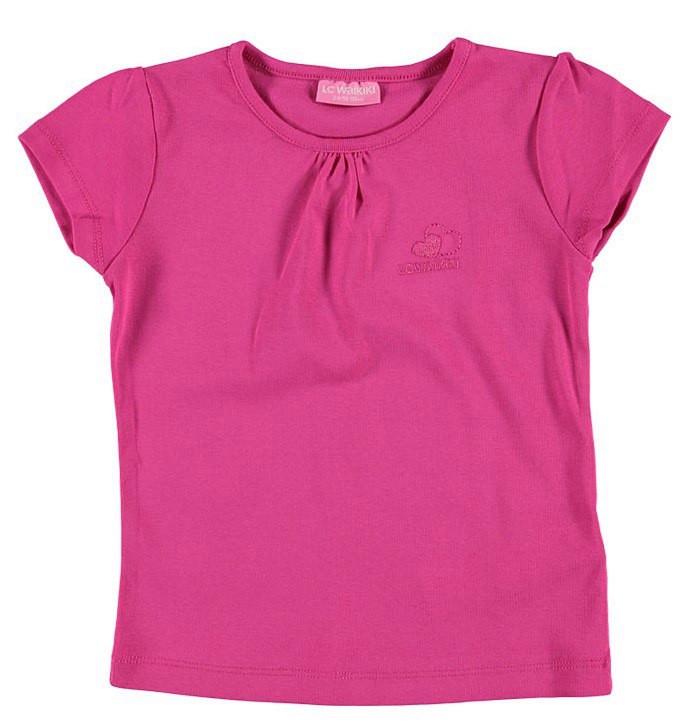 Футболка для девочки LC Waikiki темно-розового цвета