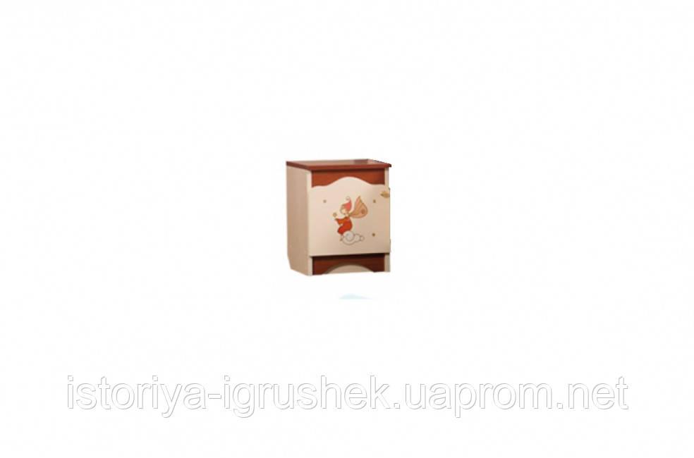 Тумбочка прикроватная «Феи в облаках» крем+яблоня шоколад