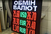 Табло обмен валют (1200х1200, 4 валюты)