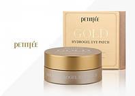 Гидрогелевые патчи для глаз с золотым комплексом +5 - PETITFEE Gold Hydrogel Eye Patch