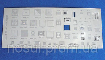 BGA шаблоны трафареты 51шт в 1 пластине для реболлинга Iphone 3G 3GS 4G