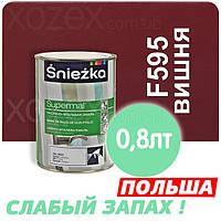 Sniezka SUPERMAL Вишневая F595 Без Запаха масляно-фталевая 0,8лт