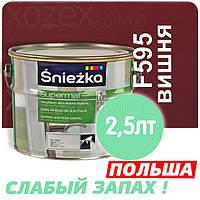 Sniezka SUPERMAL Вишневая F595 Без Запаха масляно-фталевая 2,5лт