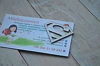 Чипборд.  Знак супермэна размером 40х30мм