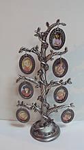 Фамильное дерево металлическое на 7 фото размер 30*15