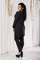 ДТ8060 Женский костюм  туника+лосины , фото 2