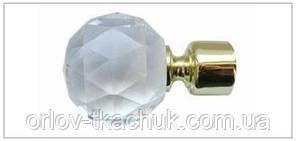 Наконечник для кованного карниза Кристалл шар 19 диаметр
