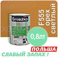 Sniezka SUPERMAL Орех светлый F555 Без Запаха масляно-фталевая 0,8лт