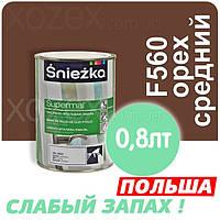 Sniezka SUPERMAL Орех средний F560 Без Запаха масляно-фталевая 0,8лт