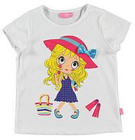 Футболка для девочки LC Waikiki белого цвета с девочкой в шляпе
