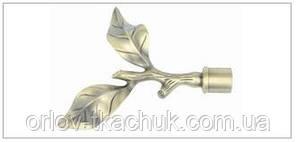 Наконечник для кованного карниза Лист розы 19 диаметр