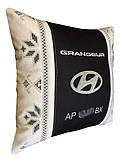 Сувенірна подушка у авто з емблемою Hyundai хюндай, фото 5