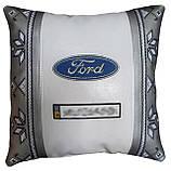 Сувенирная подушка в машину с логотипом Ford форд, фото 5