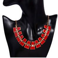 Ожерелье Bling  красное/бижутерия/цвет цепочки золото