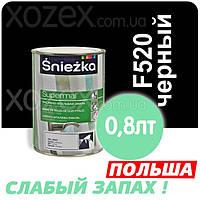 Sniezka SUPERMAL Черная F520 Без Запаха масляно-фталевая 0,8лт