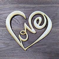 Сердечко LOVE деревянное 10см *9см