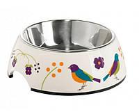 Миска для собак на цветной подставке HUNTER 160 мл птицы