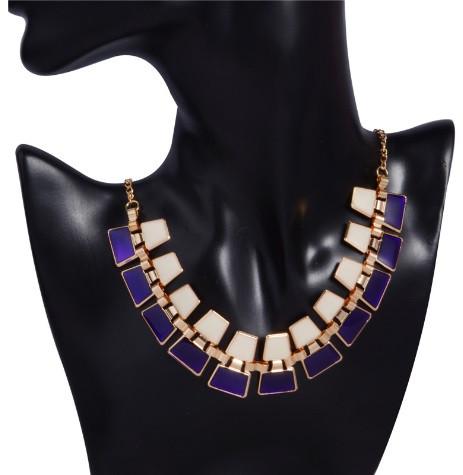 Ожерелье Bling фиолетовое/бижутерия/цвет цепочки золото
