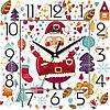"""Детские настенные часы 300Х300Х16мм """"С Новым Годом!"""" [МДФ, Открытые]"""
