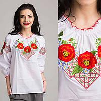 Подростковая блуза вышиванка Красный Мак