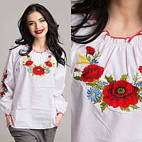 Подростковая вышитая блуза Мак Волошка