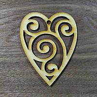 Сердечко деревянное Валентинка 10см*8см