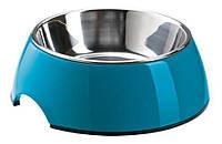 Миска для собак на цветной подставке синяя HUNTER 160 мл