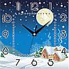 """Настенные часы 300Х300Х16мм """"Зимний пейзаж"""" [МДФ, Открытые]"""