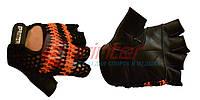 Перчатки атлетические, кожа + цветная сетка. Размер: L.
