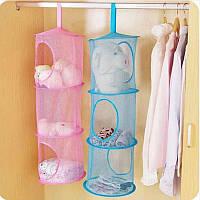 Подвесная корзина для игрушек и вещей - подвесная полка на три уровня