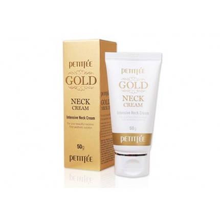 Антивозрастной крем для шеи с золотом PETITFEE Gold Neck Cream, 50 мл, фото 2