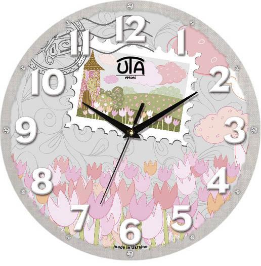 Настенные часы в детскую 240Х240Х30мм [МДФ, Открытые]