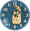 "Детские настенные часы 240Х240Х30мм ""Котик"" [МДФ, Открытые]"