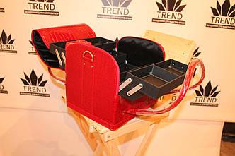 Кейс для мастеров красоты, красный лаковый, фото 2