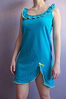 """Женская ночная рубашка """"Анжелика"""" (голубая)"""