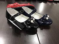 Детские туфли лаковые с бантиком для девочек Linshi оптом Размеры 26-31