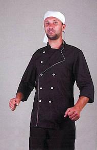Черный мужской костюм повара