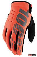 Зимние мото перчатки BRISKER 100% Cold Weather оранжевые