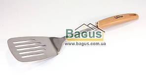 Лопатка кухонная 33см из нержавеющей стали с прорезями Sacher (SHCW00014)