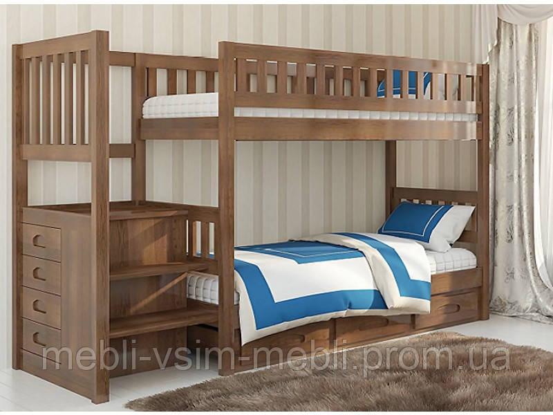 """Детская деревянyая двухъярусная кровать """"Владимир"""", фото 1"""