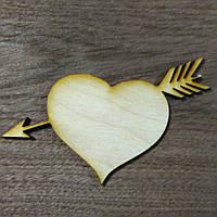 Сердце со стрелой 10см*7см