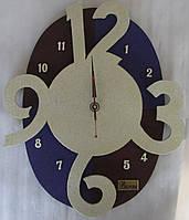 Часы настенные из дерева - 12-3-6-9