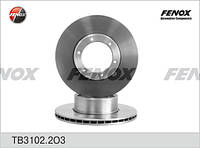 Диск тормозной Газ 3302 Газель передний (d=104 мм) Фенокс