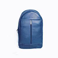 Рюкзак синий кожаный Issa Hara